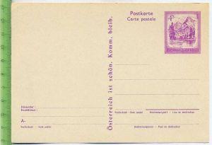 Postkarte, Republik Österreich  Österreich 4S lila, 1973
