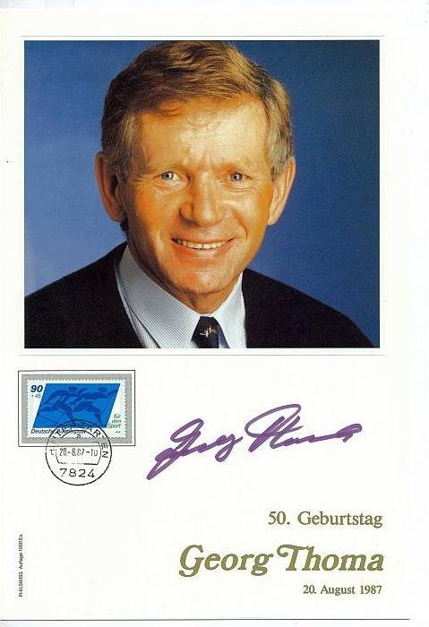 Georg Thoma 50. Geburtstag, 20. August 1987