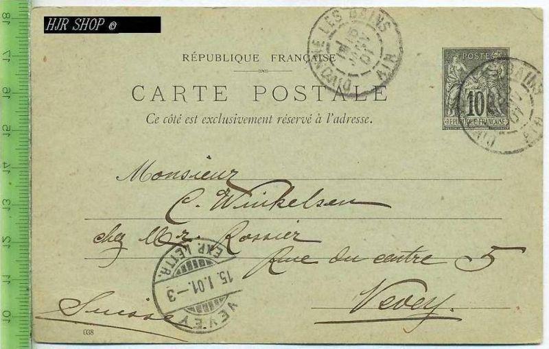 Postkarte, les Bains, France Gest. 15.01.1901