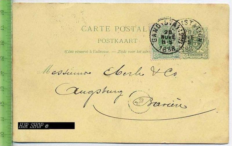 Postkarte, Gamd Belgien Gest. 28.11.1888