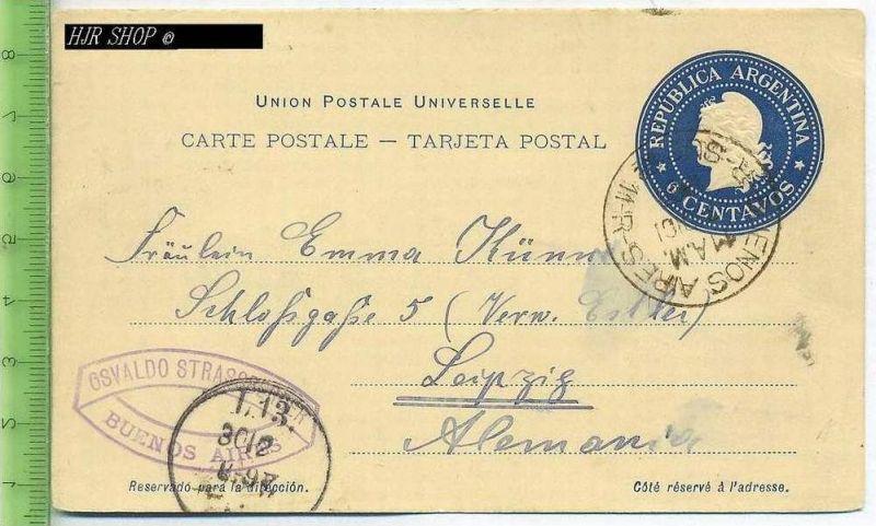Postkarte, Argentinien Gest. 1900