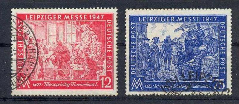 1947, 2. Sept. Leipziger Herbstmesse, 965,966, Gest., Satz 2 W