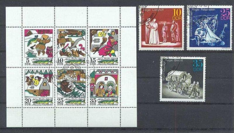 1973, Kleinbogen gest., Satz Theaterinszenierung 1850,1851,1852 Gest