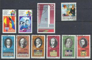 1973, Gedenkstätten Satz 6 w, 1856-61 gest., Weltfestspiele satz 2 W, 1829,1830 gest. Mahn u. Gedenkst. 1878 gest., Brie