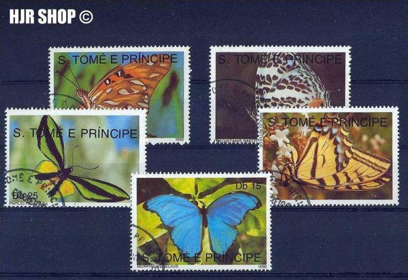 1992, 5 x  Schmetterlinge gest., auf Karte
