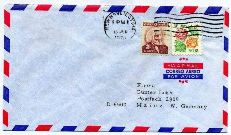 Brief, 18.06.1981, New Haven CT – Mainz,