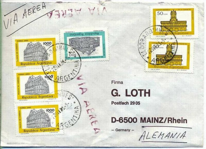 Luftpost-Brief, 22.09.1981, Eldorado – Mainz,
