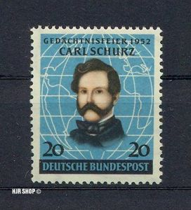1952 Bundesrepublik Deutschland Schurz **. Mich.Nr. 155. Michelwert 25 Euro.