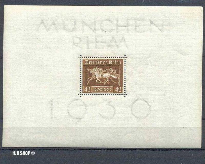 1936 Deutsches Reich Braunes Band- Blockausgabe **. Mich.Nr. Block 4. Michelwert 32 Euro.
