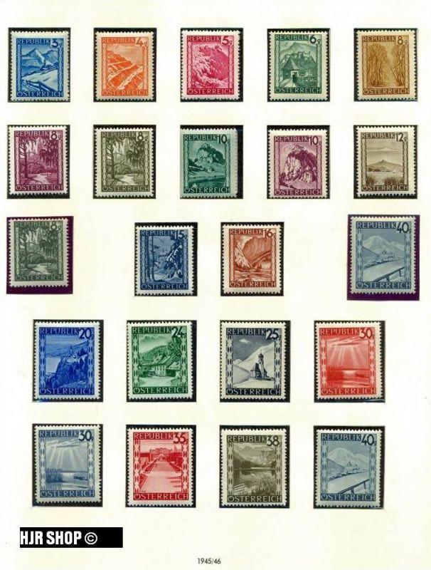 1945 Österreich Landschaften **. Mich.Nr. 738/70. Michelwert 60 Euro.