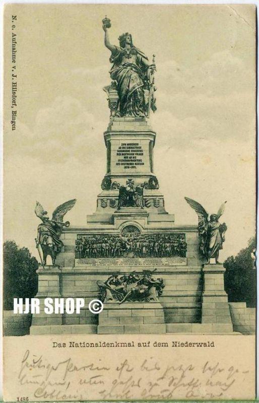 Postkarte, Das Nationaldenkmal auf dem Niederwald