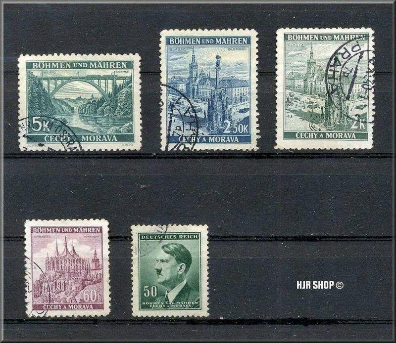 5x Böhmen und Mähren, Protektorat (15.03.193*9-8.05.1945, gest.