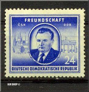 1952, 1. Mai, Staatsbesuch von Klement Gottwald, Minr. 302**, 24 Pf.