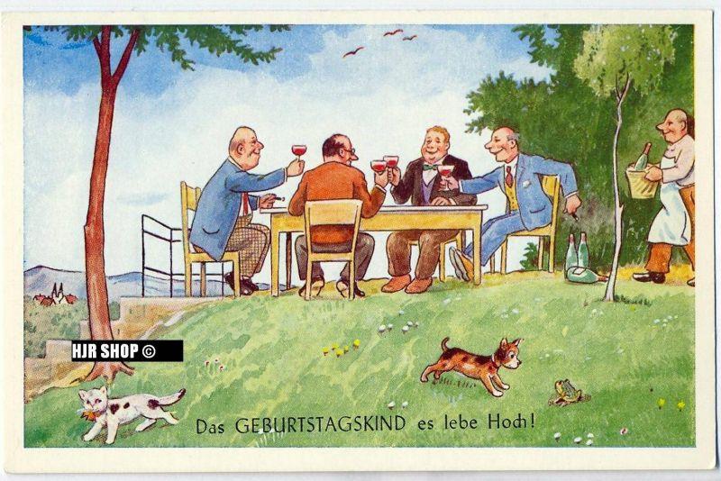 Postkarte:  Das Geburtstagskind es lebe Hoch! ungelaufen,