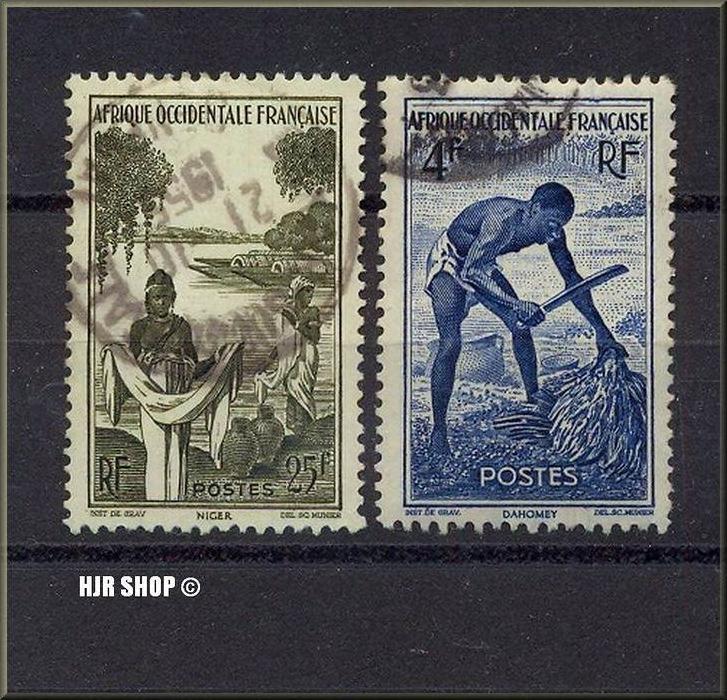 2 x Frankreich, Kolonien, 1x gest.21.10.1955
