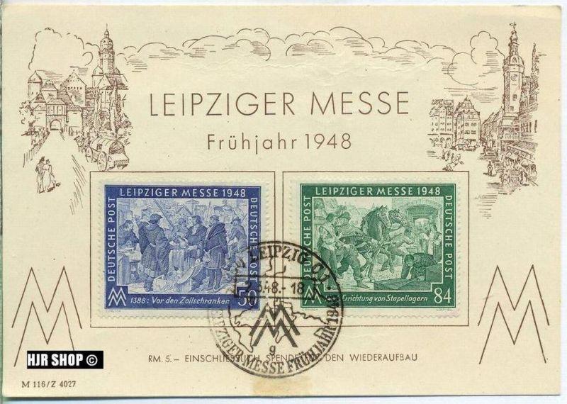 Leipziger Messe, Frühjahr 1948, gest. 2.03.1948, Zustand. Gut, etwas Fleckig