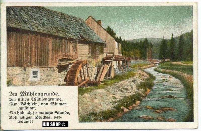 um 1910/1920 Ansichtskarte im Mühlengrunde