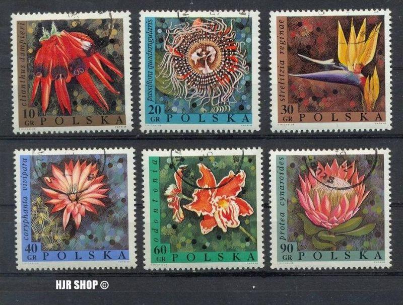 1968, 15. Mai. So.- Ausg. Blumen,Gest.  MiNr. 1836-1841, 1977, 9. Okt. Polnische Münzen, Gest.  MiNr. 2525-2529,