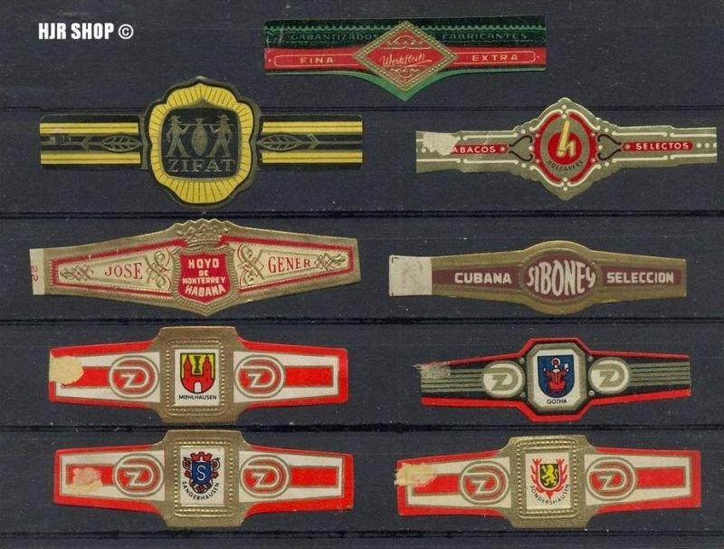 DDR, Zigarren-Etiketten, Zustand. Gut