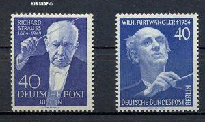1954+1955 Ausgabe Strauss und Furtwängler, Minr. 124,128**, Zustand: sehr Gut