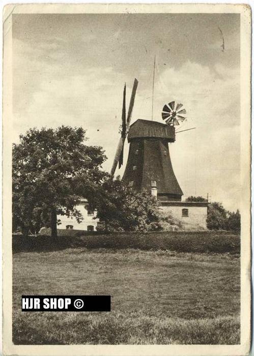 """um 1940/1950 Ansichtskarte, FELDPOST, Ganzsache """" Mühle in Schleswig - Holstein"""" mit Frankatur"""