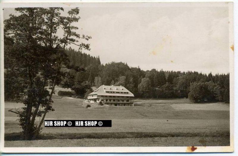 """um 1930/1940 Ansichtskarte,  """" JHB am Titisee"""" mit Frankatur"""