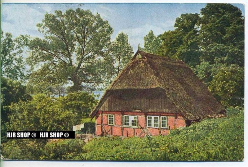 """um 1910/1920 Ansichtskarte, FELDPOST """" Haus am See"""" mit Stempel"""
