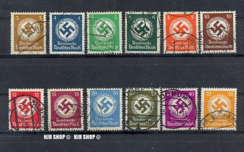 1934, Dienstmarken, Satz 12 W, Minr.132-143 gest. 0