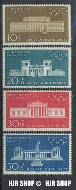 1969, MiNr. 604-607** Satz 4W, 1970, 624-627** Satz 4W.