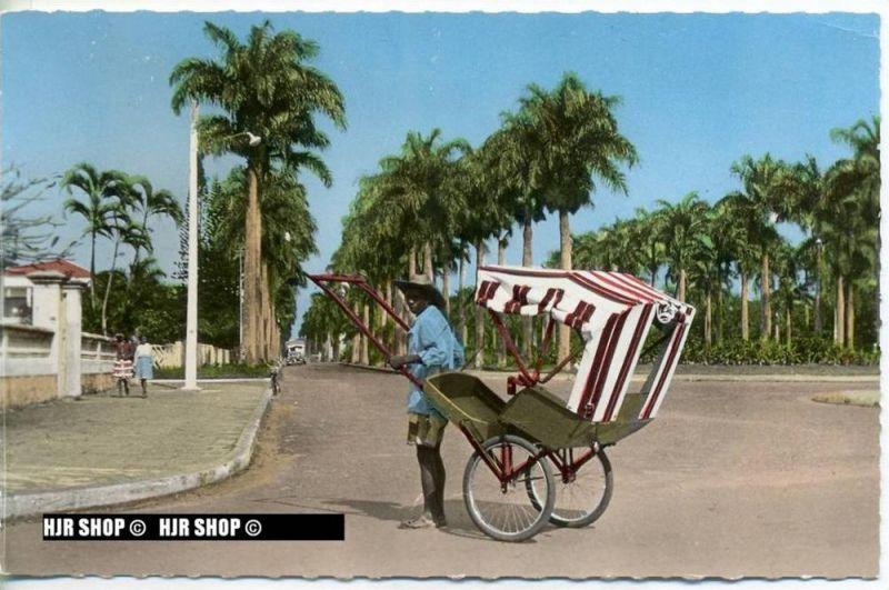 "um 1950/1960 Ansichtskarte  "" Avenue poincarè"" , ungebrauchte Karte"