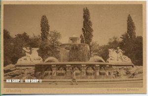 """um 1920/1930 Ansichtskarte  """"München, Wittelsbacher Brunnen,""""  ungebrauchte Karte"""