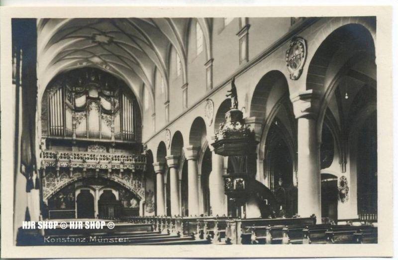 """um 1920/1930 Ansichtskarte,  """"Konstanz, Münster""""  ungebrauchte Karte"""