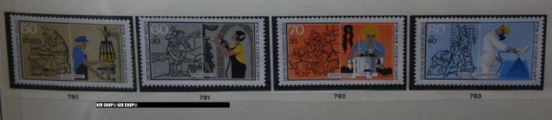 1987, Handwerksberufe, MiNR. 780-783 **, Satz 4 W