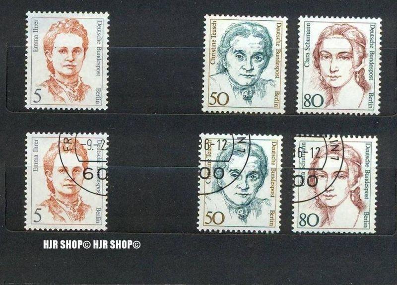 1989,Frauen MiNr. 833 **, 833 Gest./ MiNr. 770+771 **, 770+771 Gest