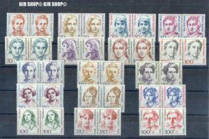 1986-1989, Berlin  Frauen, waager. Paare, 2 x Satz 17 W **