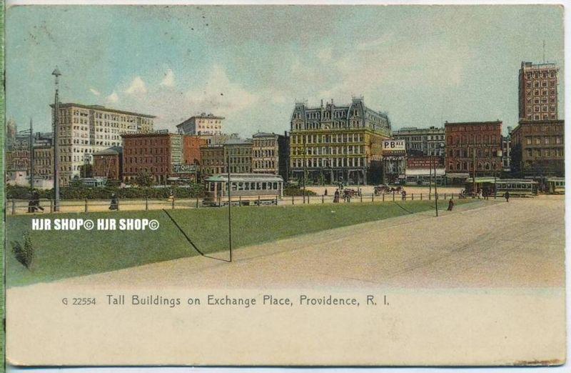 "um 1910/1920  Antsichtskarte,  ""Tall Buildings on Exchange Place  "" ohne Frankatur, Stempel,"