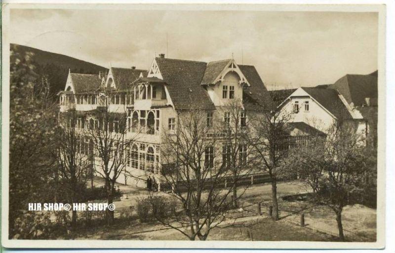 """um 1930/1940  Antsichtskarte,  """"Das Haus Brocken-Scheideck  """" besch. Frankatur, Stempel,"""