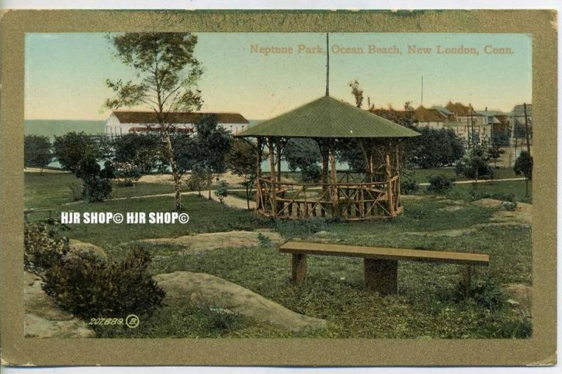 """um 1900/1910  Antsichtskarte,  """"Neptune Park"""" mit Frankatur, Stempel,"""
