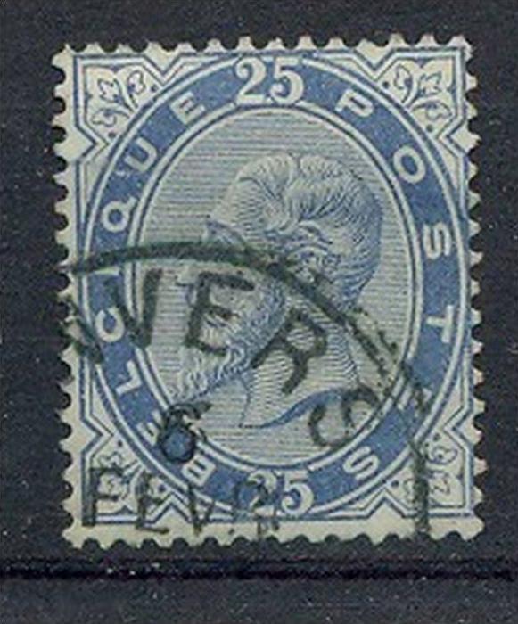 1883, 20. Okt. Leopold II, MiNr.37 Gest,