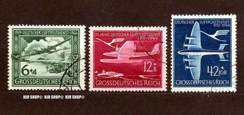 1944,Luftpostdienst, MiNr. 866-868 gest., Satz 3 W