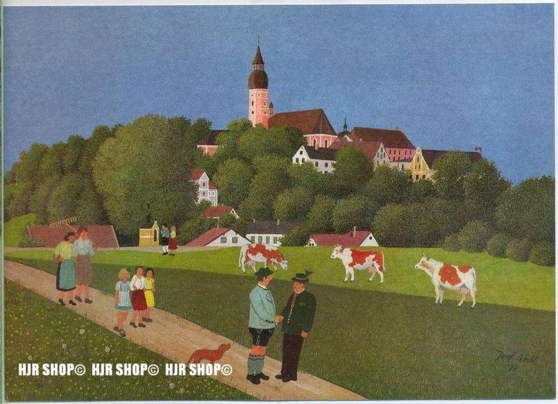 WIECHMANN – BILDKARTEN Josef Wahl, Der Bauernplausch, Nr.5138