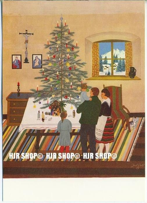 WIECHMANN – BILDKARTEN Josef Wahl, Weihnachtliche Bauernstube, Nr.5115