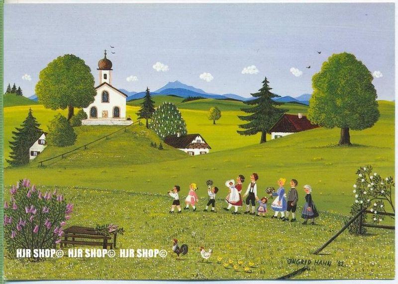 WIECHMANN – BILDKARTEN Ingrid Hahn, Ländliche Kindstaufe, Nr.5280