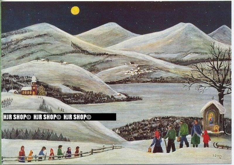 WIECHMANN – BILDKARTEN INGE BORN, Gang zur Christmette, Nr.5149