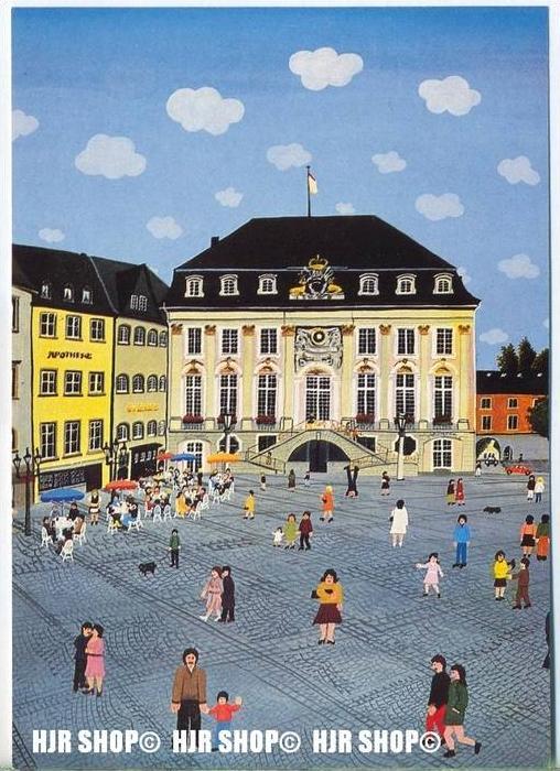 WIECHMANN – BILDKARTEN JOSEF HAWLE, Bonn-Rathaus und Markt, Nr.5176