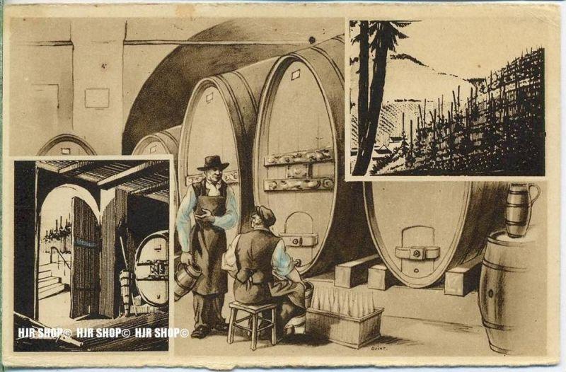 """""""Weinhandel""""  um 1900/1910  ANSICHTSKARTE,  ohne Frankatur, ohne Stempel"""
