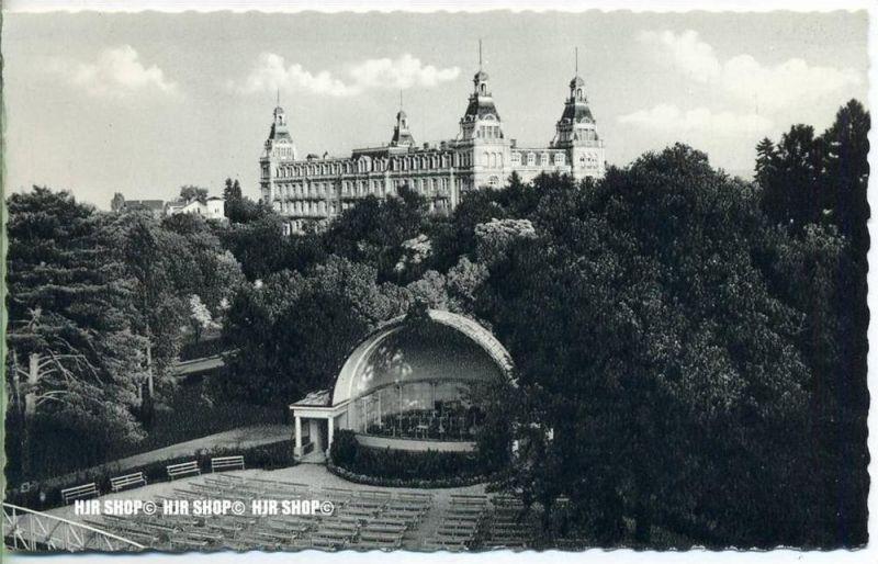 """"""" Bad Wildungen, Blick vom Kurpark auf den Fürstenhof""""   um 1930/1940,  Ansichtskarte, ungebrauchte Karte"""