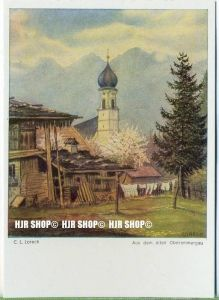 """"""" Aus dem alten Oberammergau, C.L. Loreck""""   um 1930/1940,  Ansichtskarte,"""