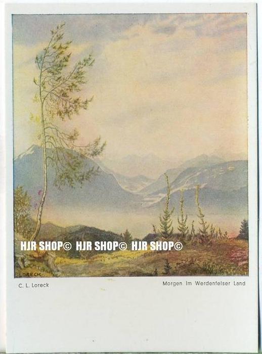 """ Morgen im Werdenfelser Land, C.L. Loreck""   um 1930/1940,  Ansichtskarte,"