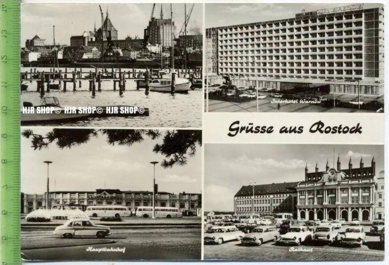 """""""Grüße aus Rostock""""  um 1970/1980  , Ansichtskarte mit Frankatur, mit Stempel,"""